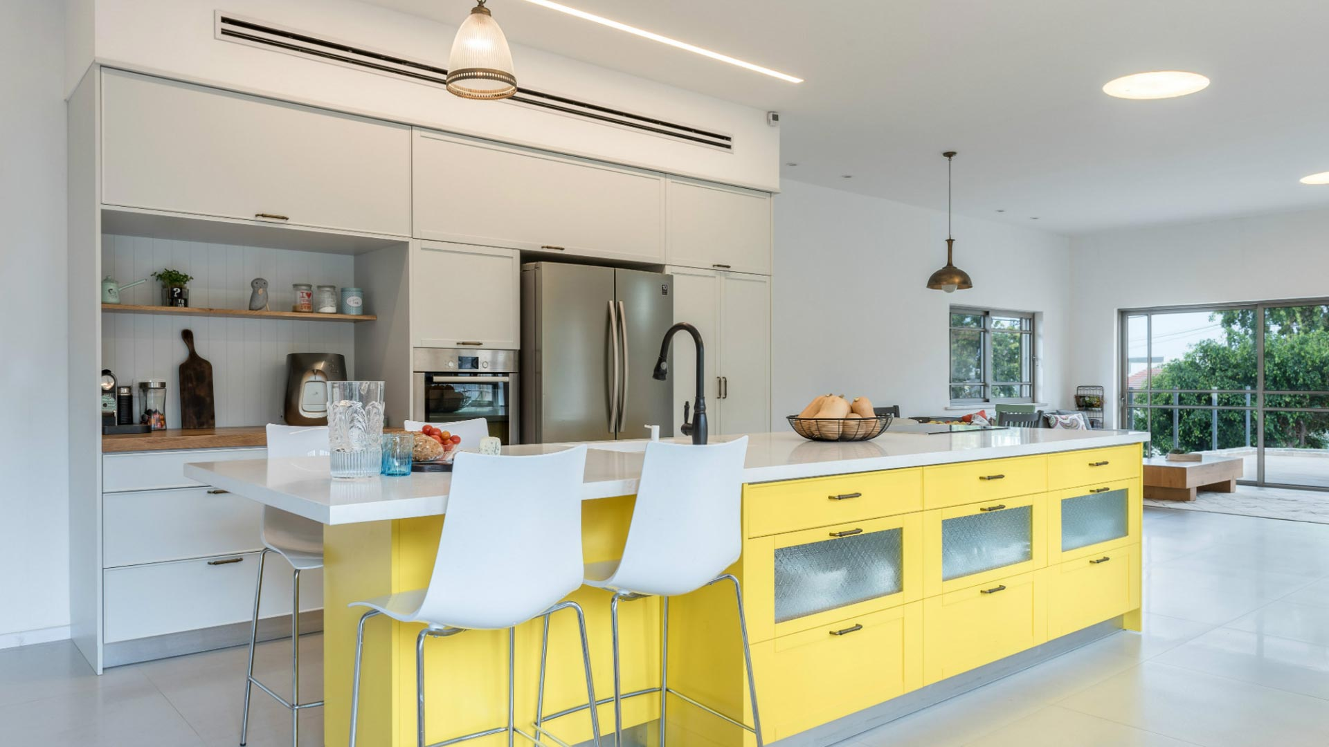 modern-country-kitchen-with-yellow-island