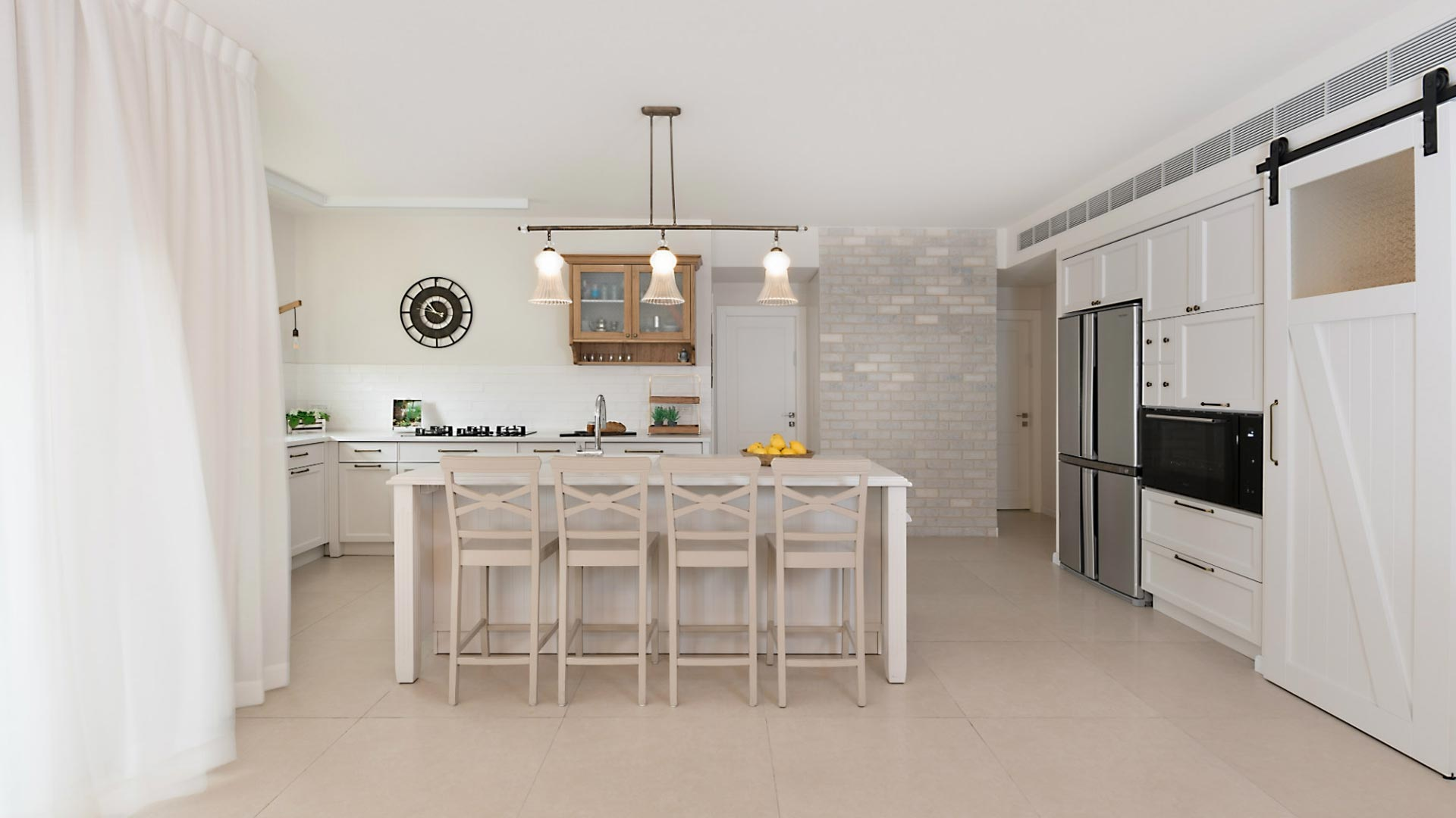 spacious-cream-colored-country-kitchen